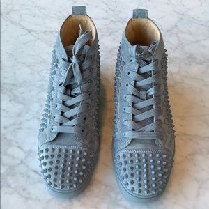 Christian Louboutin- Grey Suede Hightop Spikes
